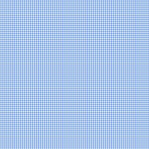 Gingham Small Cornflower Blue And White