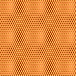 Argyle Small-Cherry Red_ Pumpkin Orange_ Golden Yellow_ White