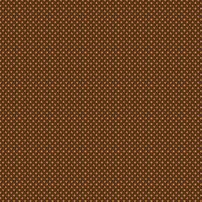 Polka Dots Small-Pumpkin Orange on Cafe Noir