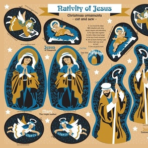 Nativity of Jesus – cut and sew [curry]