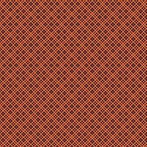Fair Isle Geometric-Pumpkin Orange and Black