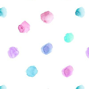 Watercolor tenderness #2 || polka dot pattern for nursery, baby girl