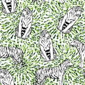 Palm tiger pattern
