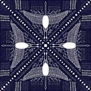 Crane- Mudcloth