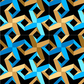 1-2-4-3 (blue _ brown)