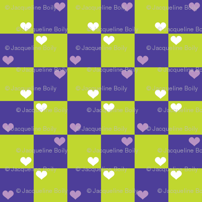 Purple Green Checkers