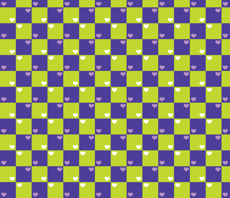 Purple Green Checkers fabric by patterns_for_dessert on Spoonflower - custom fabric