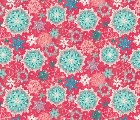 Wonderland Snowfall fabric by jamiekulig on Spoonflower - custom fabric