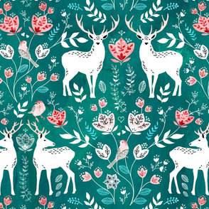 Scandinavian deer green