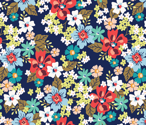 Spring flowers fabric by irynmerry on Spoonflower - custom fabric