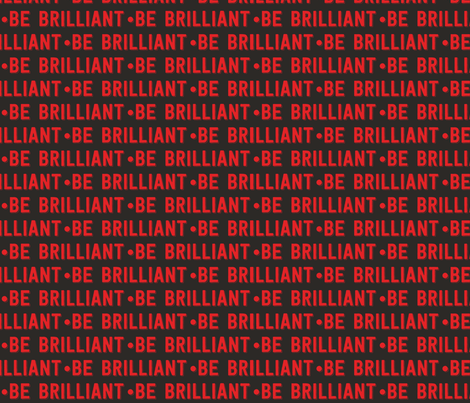 be brilliant | red black fabric by handmadephd on Spoonflower - custom fabric