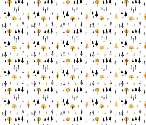Simple minimalist trees pattern fabric by lena_nikolaeva on Spoonflower - custom fabric