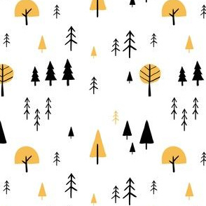 Simple minimalist trees pattern