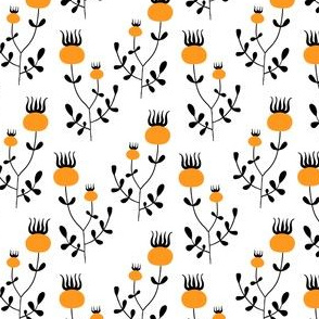 Orange berry pattern