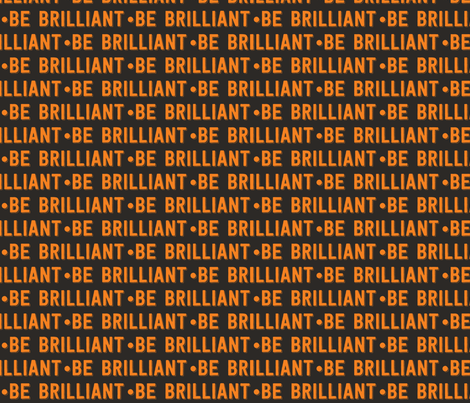 be brilliant | orange black fabric by handmadephd on Spoonflower - custom fabric