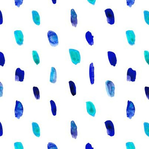 Blue watercolor brushstrokes pattern