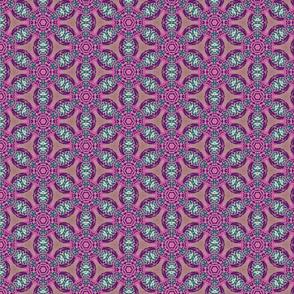 african flower motif purple