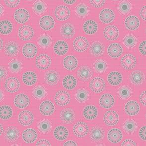 mandala motifs pink