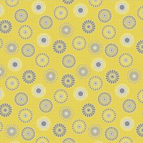 mandala motifs yellow