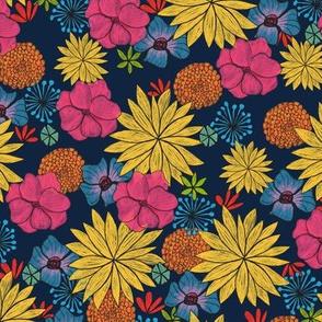 Retro Floral (blue)