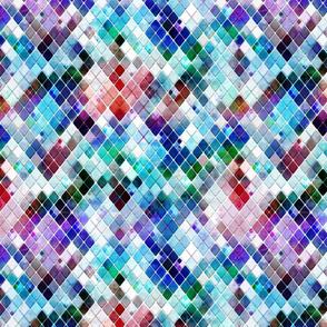Rainbow hue snakeskin