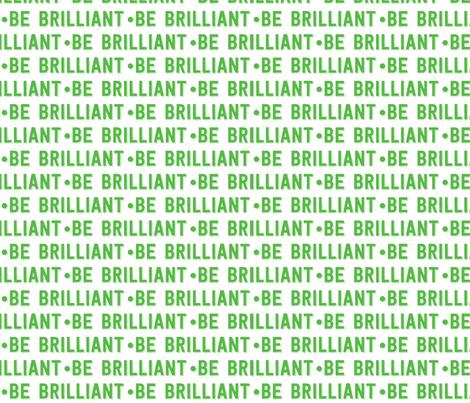 be brilliant | green white fabric by handmadephd on Spoonflower - custom fabric