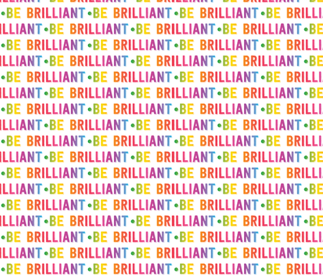 be brilliant | rainbow white fabric by handmadephd on Spoonflower - custom fabric