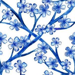 Blue Chinoiserie Lattice