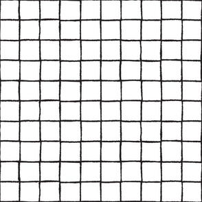 Black and white geometric grid on white background