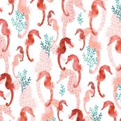 Pointillism Seahorse Coral