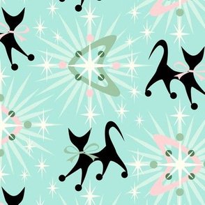 Retro cats, boomerangs & starbursts