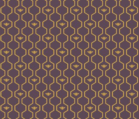 Bee Hive - Purple fabric by the_wookiee_workshop on Spoonflower - custom fabric