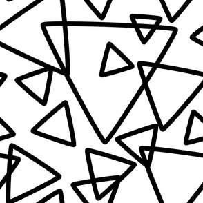 jumbo black white triangles
