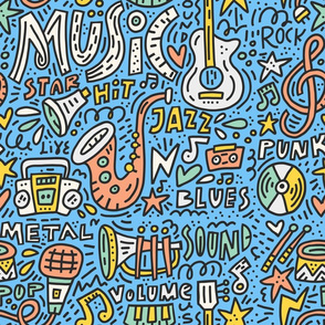 Musical instruments with lettering