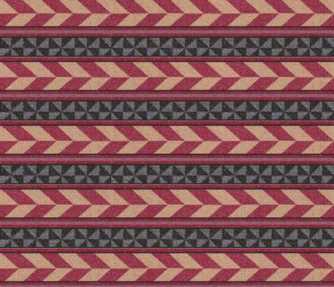 Fair Isle Geometric Stripes fabric by anniedeb on Spoonflower - custom fabric