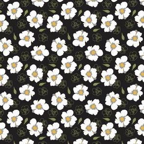 White Dogwood Flowers Black small