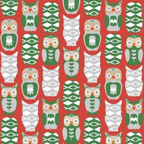 Owls and Hearts for Christmas