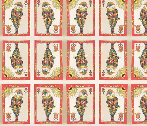 jester in the sun fabric by marie-clare on Spoonflower - custom fabric