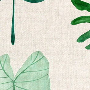botanical green natural leaves
