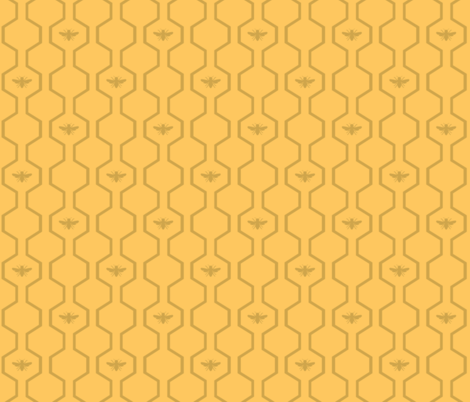 Bee Hive - Yellow fabric by the_wookiee_workshop on Spoonflower - custom fabric