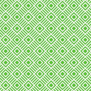 Geometric Square Green White Tonal Small