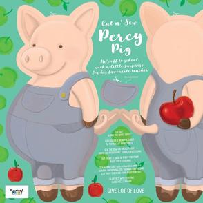 Percy Pig _ 27x18inch