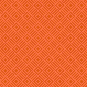 Geometric Square Orange Coral Tonal Small