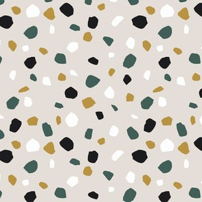 terrazzo sand and green