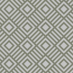 Geometric Square Gray Shades Tonal Large