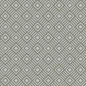 Geometric Square Gray Shades Tonal Small