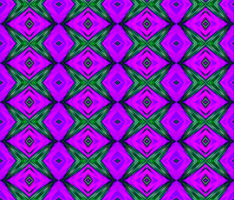 Purple & Green Diamond Eyes fabric by just_meewowy_design on Spoonflower - custom fabric