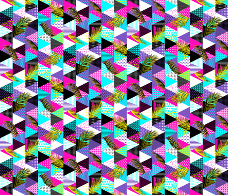 21s Century Memphis Style Neons 1/2 size fabric by wickedrefined on Spoonflower - custom fabric