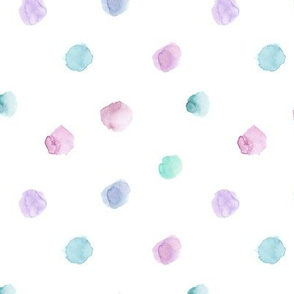 Saturated watercolor tenderness || polka dot pattern for nursery