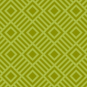 Geometric Square lime  Green Tonal Large